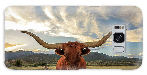 Heber Longhorn Sunset Galaxy Case