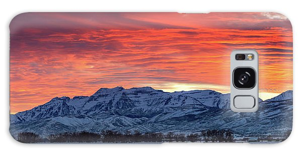 Heber Valley Panoramic Winter Sunset. Galaxy Case