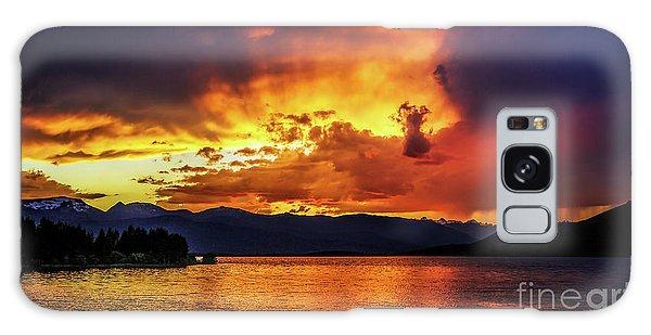 Hebgen Lake Sunset Galaxy Case