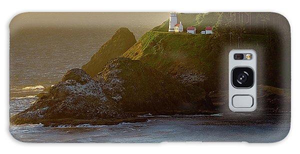 Heceta Head Lighthouse At Sunset Galaxy Case