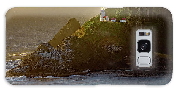 Heceta Head Lighthouse At Sunset Galaxy Case
