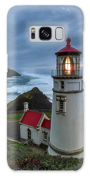 Heceta Head Lighthouse Evening Galaxy Case
