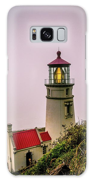 Heceta Head Lighthouse In The Fog Galaxy Case