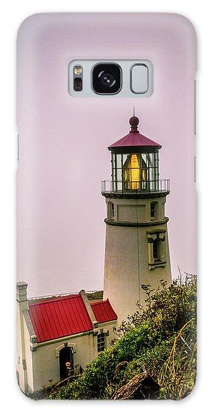 Heceta Head Lighthouse In The Fog Galaxy Case
