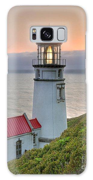 Heceta Lighthouse At Sunset Galaxy Case by Martin Konopacki