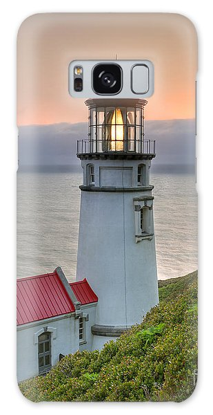 Heceta Lighthouse At Sunset Galaxy Case