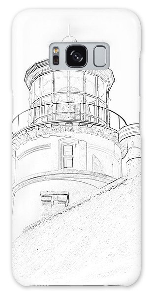 Hecitia Head Lighthouse Sketch Galaxy Case