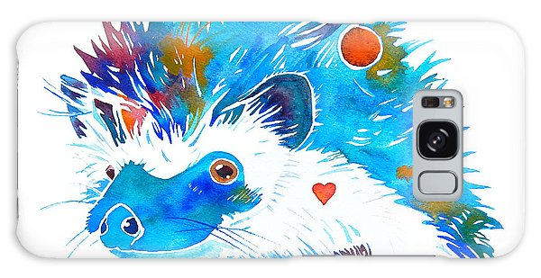 Hedgehog With Heart Galaxy Case