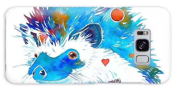 Hedgehog With Heart Galaxy Case by Jo Lynch