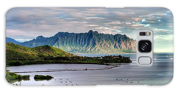 He'eia Fish Pond And Kualoa Galaxy Case by Dan McManus