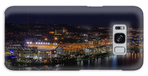 Heinz Field At Night From Mt Washington Galaxy Case