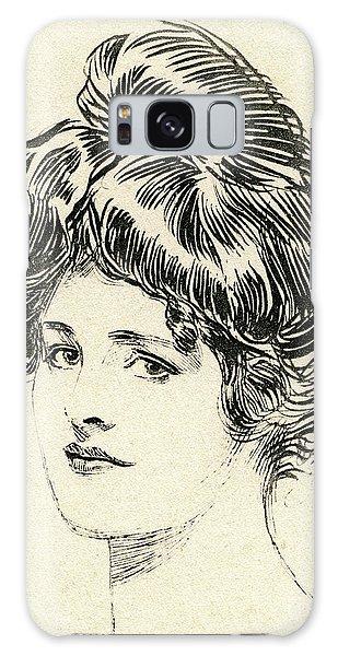 Beautiful Girl Galaxy Case - Helen, A Gibson Girl by Charles Dana Gibson