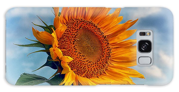 Helianthus Annuus Greeting The Sun Galaxy Case