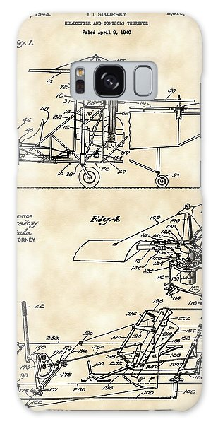 Helicopter Galaxy S8 Case - Helicopter Patent 1940 - Vintage by Stephen Younts