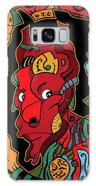 Galaxy Case featuring the digital art Hell by Sotuland Art
