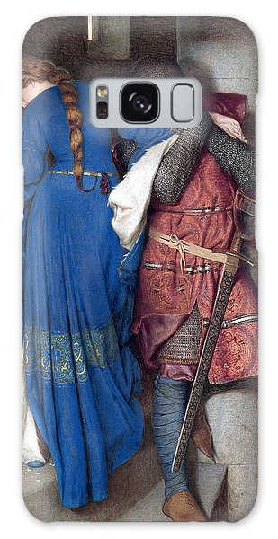 Beautiful Girl Galaxy Case - Hellelil And Hildebrand Or The Meeting On The Turret Stairs by Frederic William Burton