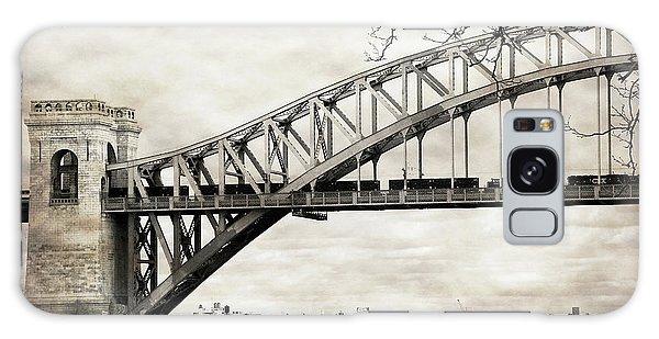 Hellgate Bridge In Sepia Galaxy Case