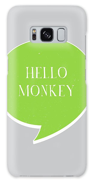 Thought Galaxy Case - Hello Monkey by Samuel Whitton
