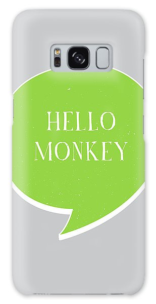 Thought Provoking Galaxy Case - Hello Monkey by Samuel Whitton
