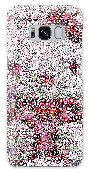 Hello Kitty Button Mosaic Galaxy Case by Paul Van Scott