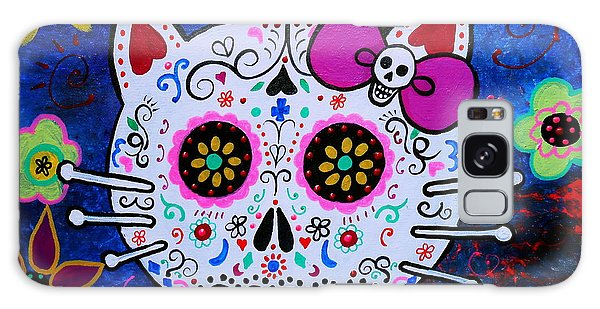 Kitty Day Of The Dead Galaxy Case by Pristine Cartera Turkus