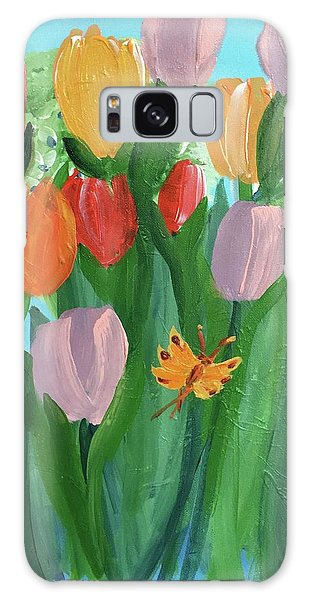 Hello Spring Tulips Galaxy Case