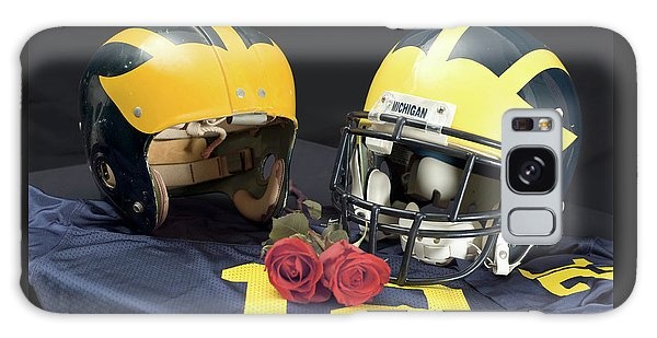 Helmets Of Different Eras With Jersey And Roses Galaxy Case