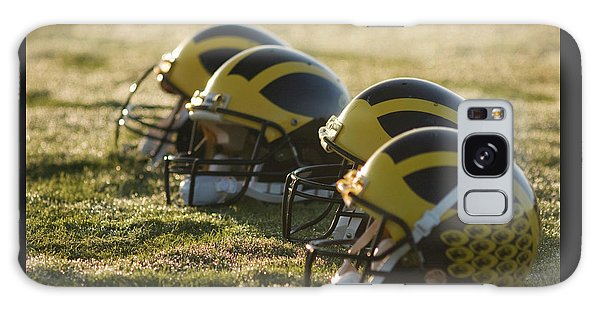Helmets On The Field At Dawn Galaxy Case