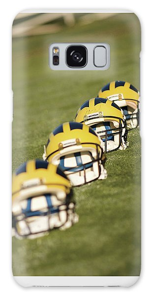Helmets On Yard Line Galaxy Case