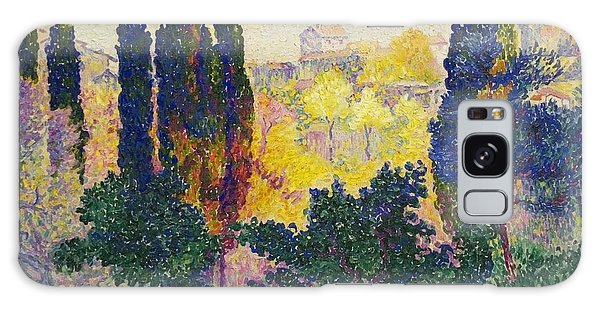 Henri Edmond Cross French Les Cypres A Cagnes Galaxy Case