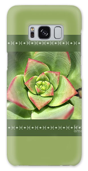Hens And Chicks Succulent And Design Galaxy Case by Joy Watson