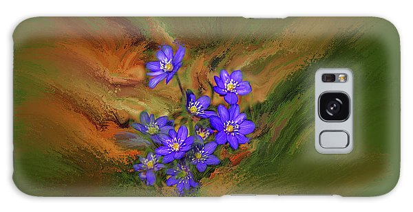 Galaxy Case featuring the digital art Hepatica Nobilis Painterly #h4 by Leif Sohlman