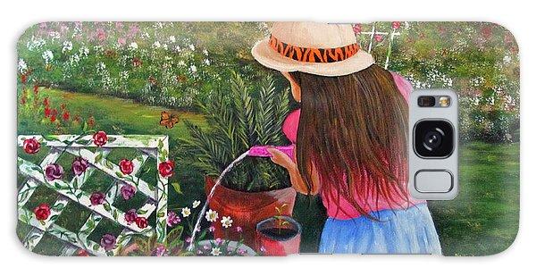 Her Secret Garden Galaxy Case