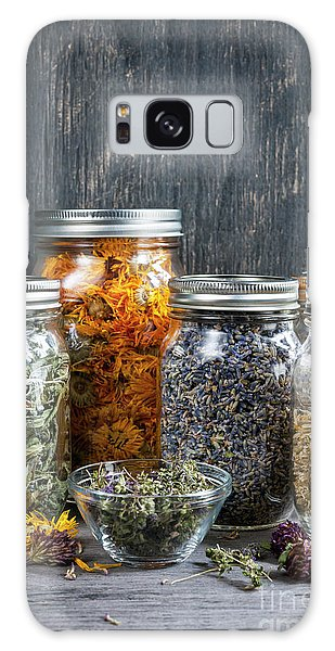 Galaxy Case featuring the photograph Herbs In Jars by Elena Elisseeva