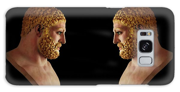 Galaxy Case featuring the mixed media Hercules - Blondes by Shawn Dall