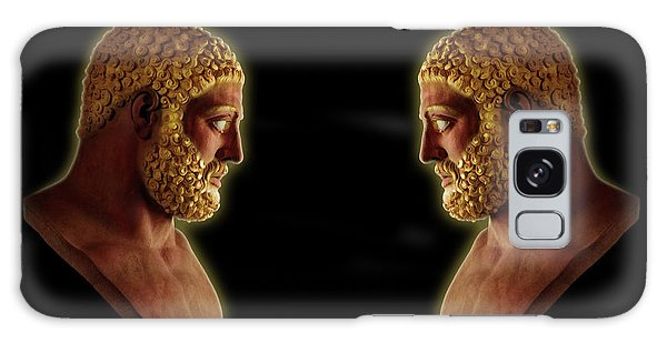 Galaxy Case featuring the mixed media Hercules - Golden Gods by Shawn Dall