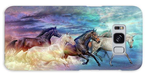 Herd Of Horses In Pastel Galaxy Case