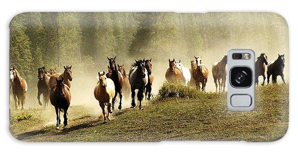 Herd Of Wild Horses Galaxy Case