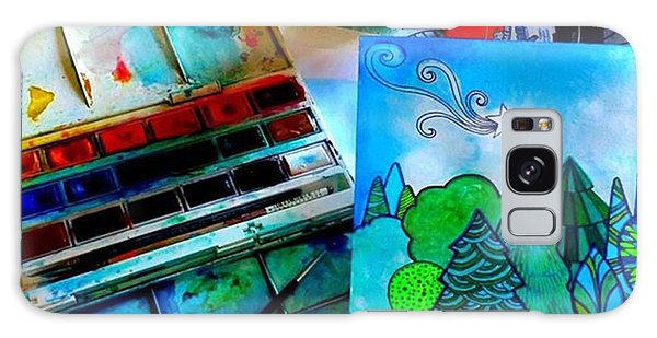 Landscapes Galaxy Case - Here Is My Newest Watercolor And Ink by Robin Mead