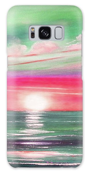 Here It Goes In Teal And Magenta Panoramic Sunset Galaxy Case