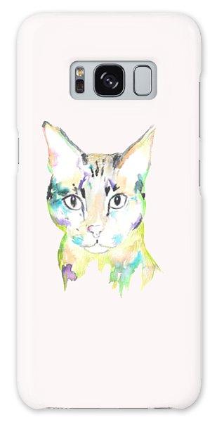 Here Kitty T-shirt Galaxy Case by Herb Strobino