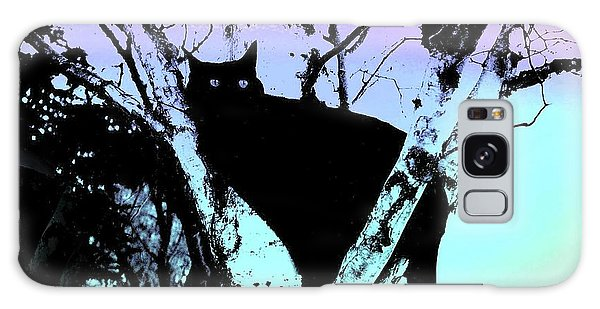 Here Kitty Kitty Galaxy Case by Shirley Sirois