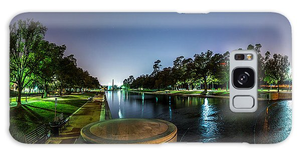 Hermann Park Reflecting Pool In Houston Texas Galaxy Case