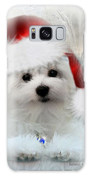 Hermes The Maltese At Christmas Galaxy Case