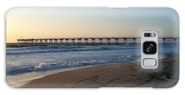 Hermosa Beach Pier At Sunset Galaxy Case by Mark Barclay