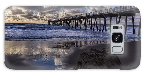 Hermosa Beach Pier Galaxy Case