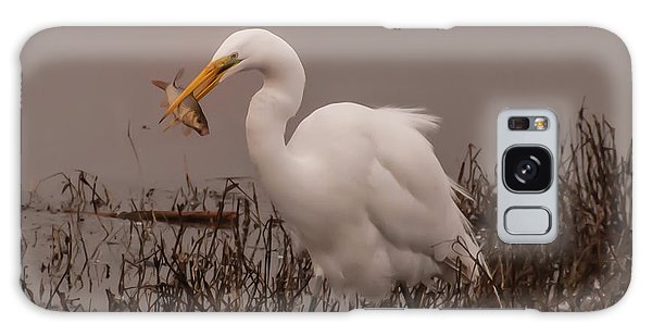 Heron And Fish Galaxy Case