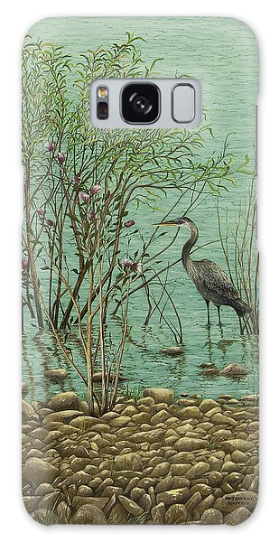 Heron At Crabtree Creek Galaxy Case