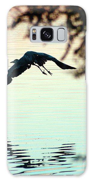 Heron At Dusk Galaxy Case