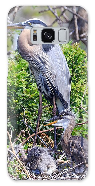 Heron Babies Galaxy Case